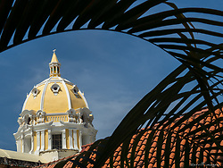 Dome of San Pedro Claver church, Cartagena, South America