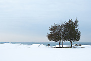 Selkirk Shores State Park in winter