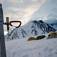 The polar bear fence, base camp, Svalbard.