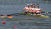 Plovdiv BULGARIA. 2017 FISA. Rowing World U23 Championships. GER BM4+ Bow. SEITERS, Paul Heinrich, TECKEMEYER, Marcel, HEINEMANN, Felix, JOHN, Max.  SEITERS, Paul Heinrich and  Cox. LEIBELT, Benjamin.<br /> Wednesday. PM,  Heats 16:20:13  Wednesday  19.07.17   <br /> <br /> [Mandatory Credit. Peter SPURRIER/Intersport Images].