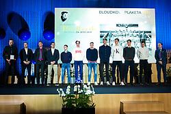 U18 Slovenian basketball national team at 55th Annual Awards of Stanko Bloudek for sports achievements in Slovenia in year 2018 on February 4, 2020 in Brdo Congress Center, Kranj , Slovenia. Photo by Grega Valancic / Sportida