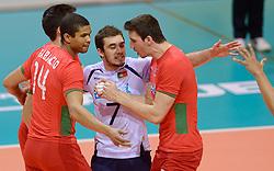 20150619 NED: World League Nederland - Portugal, Groningen<br /> De Nederlandse volleyballers hebben in de World League ook hun eerste duel met Portugal met 3-0 gewonnen / Ivo Cases, Fabricio Silva POR