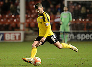 Bob Harris in action during the Sky Bet League 1 match between Walsall and Sheffield Utd at the Banks's Stadium, Walsall, England on 17 March 2015. Photo by Alan Franklin.