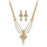 Bhindi - Gold Necklace Set - 008