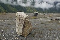Glacial erratics, Glacial erratics, Mount Robson Provincial Park British Columbia