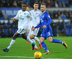 Joe Bennett of Cardiff City competes with Ryan Sessegnon of Fulham- Mandatory by-line: Nizaam Jones/JMP- 26/12/2017 -  FOOTBALL - Cardiff City Stadium - Cardiff, Wales -  Cardiff City v Fulham - Sky Bet Championship