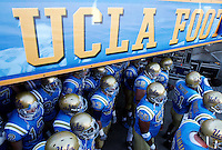 2 December 2006:  Bruins players exit the tunnell at the start of the Pac-10 college football upset UCLA beat the Trojans 13-9 during the final home game of the season for the UCLA Bruins vs the University of Southern California Trojans at the Rose Bowl in Pasadena, CA.<br />