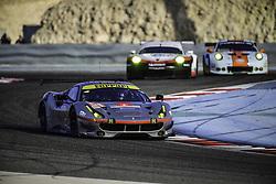 November 16, 2017 - Sakhir, Bahrein - 54 SPIRIT OF RACE (CHE) FERRARI 488 GTE LMGTE AM THOMAS FLOHR (CHE) FRANCESCO CASTELLACCI (ITA) MIGUEL MOLINA  (Credit Image: © Panoramic via ZUMA Press)