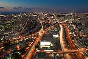 Aerial view of Tel Aviv, Israel Looking North