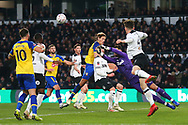 Derby County goalkeeper Kelle Roos (21) punches clear during the The FA Cup 3rd round match between Derby County and Southampton at the Pride Park, Derby, England on 5 January 2019.