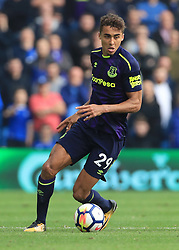 """Everton's Dominic Calvert-Lewin during the Premier League match at the AMEX Stadium, Brighton. PRESS ASSOCIATION Photo. Picture date: Sunday October 15, 2017. See PA story SOCCER Brighton. Photo credit should read: Gareth Fuller/PA Wire. RESTRICTIONS: EDITORIAL USE ONLY No use with unauthorised audio, video, data, fixture lists, club/league logos or """"live"""" services. Online in-match use limited to 75 images, no video emulation. No use in betting, games or single club/league/player publications."""