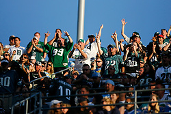 Philadelphia Eagles fans in the stands during the NFL game between the Philadelphia Eagles and the San Diego Chargers on November 15th 2009. At Qualcomm Stadium in San Diego, California. (Photo By Brian Garfinkel)