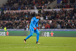 October 31, 2017 - Rome, Italy - Alisson Becker during the Champions League football match A.S. Roma vs Chelsea Football Club at the Olympic Stadium in Rome, on october 31, 2017. (Credit Image: © Silvia Lore/NurPhoto via ZUMA Press)