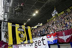Airborne Forces, militairen dalen af during the Dutch Eredivisie match between Vitesse Arnhem and VVV Venlo at Gelredome on September 17, 2017 in Arnhem, The Netherlands