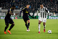 February 13, 2018 - Turin, Piedmont/Italy, Italy - Alex Sandro (Juventus FC) during the Champions League match Juventus FC vs Tottenham Hotspurs FC. Final score was 2-2 in Juventus Stadium, Turin, Italy 13th february 2018  (Credit Image: © Alberto Gandolfo/Pacific Press via ZUMA Wire)