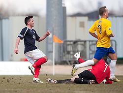 Falkirk's Sean Higgins cele scoring their fourth goal..Falkirk 4 v 0 Cowdenbeath, 6/4/2013..©Michael Schofield..
