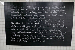 April 18, 2018 - Nova York, NOVA YORK, UNITED STATES - A ''David Bowie Is'' exhibition can be seen at the Broadway-Lafayette subway station in Manhattan, New York City, United States, nesta quarta-feira, 18. At the exhibition that is not the Museum of Brooklyn, it can now be seen at the subway station. (Credit Image: © William Volcov via ZUMA Wire)