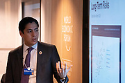 Emilio Granados Franco, Head of Global Risks and Geopolitical Agenda., World Economic Forum, speaking in the The Global Risks Report 2020 in Depth session at the World Economic Forum Annual Meeting 2020 in Davos-Klosters, Switzerland, 22 January. Congress Centre - Hub A Room. Copyright by World Economic Forum/ Greg Beadle
