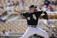 GLENDALE, AZ - MARCH 01:  Phil Humber #41of the Chicago White Sox pitches against the Milwaukee Brewers on March 01, 2011 at The Ballpark at Camelback Ranch in Glendale, Arizona. The Brewers defeated the White Sox 3-1.  (Photo by Ron Vesely)