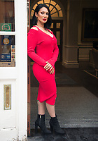 Jeanine Nerissa Sothcot out and about in Shepherds Market Mayfair