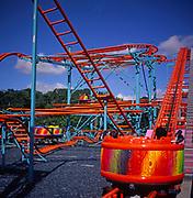 A294NA Funfair rides Pleasurewood Hills Suffolk England