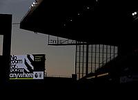 Football - 2020 / 2021 Premier League - Aston Villa vs West Bromwich Albion - Villa Park<br /> <br /> No Room for Racism on the big screen