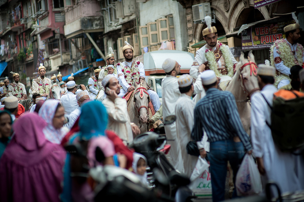 340 couple from of Dawoodi Bhora communities accross the world had their Nikah (marriage) solemnized in a mass marriage ceremony. Mumbai, India. June 2012