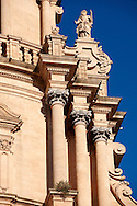 Baroque cathedral of St George designed by Rosario Gagliardi , Plaza Duomo, Ragusa Ibla, Sicily. .<br /> <br /> Visit our SICILY HISTORIC PLACES PHOTO COLLECTIONS for more   photos  to download or buy as prints https://funkystock.photoshelter.com/gallery-collection/2b-Pictures-Images-of-Sicily-Photos-of-Sicilian-Historic-Landmark-Sites/C0000qAkj8TXCzro<br /> .<br /> <br /> Visit our EARLY MODERN ERA HISTORICAL PLACES PHOTO COLLECTIONS for more photos to buy as wall art prints https://funkystock.photoshelter.com/gallery-collection/Modern-Era-Historic-Places-Art-Artefact-Antiquities-Picture-Images-of/C00002pOjgcLacqI