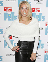 Laura Hamilton, The 'Petmiere' of The Secret Life of Pets to mark the UK DVD Release, Prince Charles Cinema, London UK, 12 November 2016, Photo by Brett D. Cove