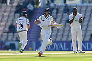 Joe Root of Yorkshire running while batting during the Specsavers County Champ Div 1 match between Hampshire County Cricket Club and Yorkshire County Cricket Club at the Ageas Bowl, Southampton, United Kingdom on 11 April 2019.