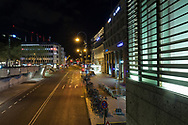 curfew from 9 pm during corona pandemic lockdown on May 5th. 2021. The deserted street Trankgasse near the cathedral, Cologne, Germany.<br /> <br /> Ausgangssperre ab 21 Uhr waehrend des Corona Lockdowns am 5. Mai 2021. Die menschenleere Trankgasse nahe Dom, Koeln, Deutschland.