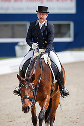 BURGER Hermann (GER), Bony M<br /> Hagen - Horses and Dreams meets the Royal Kingdom of Jordan 2018<br /> Einlaufprüfung Nürnberger Burg Pokal<br /> 26 April 2018<br /> www.sportfotos-lafrentz.de/Stefan Lafrentz