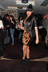 SARAH JANE CRAWFORD at the launch of 'She Died of Beauty' as part of London Fashion Week Autumn/Winter 2012 held at The Club at The Ivy Club, London on 17th February 2012.