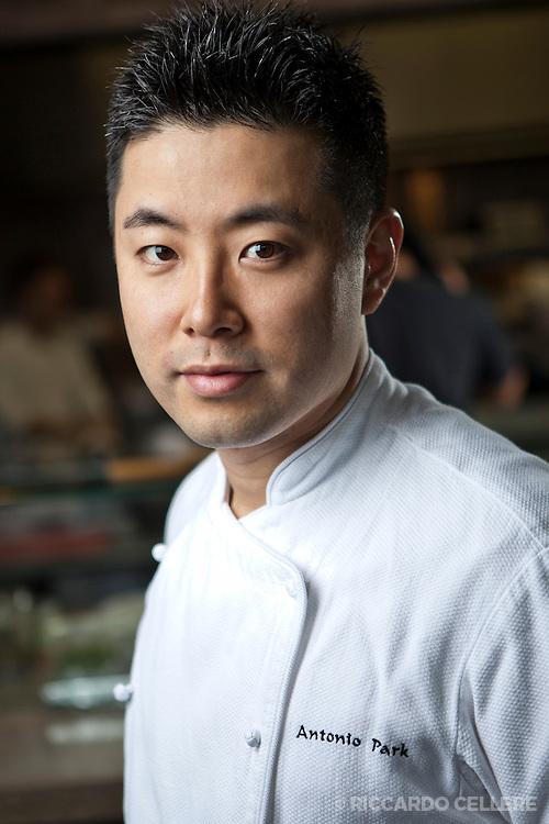 Portrait of executive chef Antonio Park