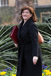© Licensed to London News Pictures. 10/03/2015. London, UK. Nicky Morgan arrives for a cabinet meeting at 10 Downing Street in London on Tuesday 10th March 2015. Photo credit : Vickie Flores/LNP
