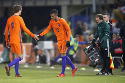 (L-R), Sam Lammers of Jong Oranje, Richairo Zivkovic of Jong Oranje during the EURO U21 2017 qualifying match between Netherlands U21 and Andorra U21 at the Vijverberg stadium on November 10, 2017 in Doetinchem, The Netherlands