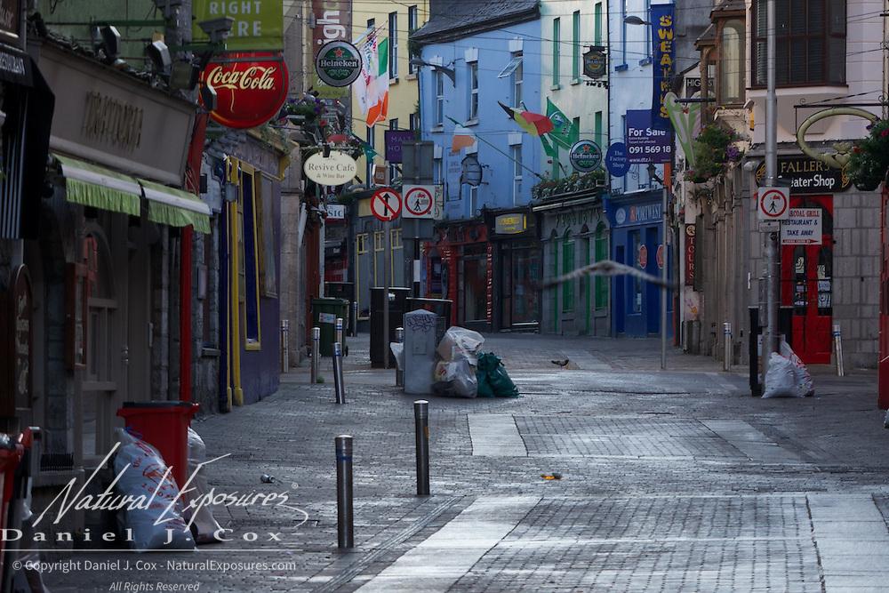 Street scenes in Galway, Ireland.