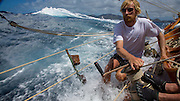 Onboard Adventuress, 2014, Antigua Classic Yacht Regatta.