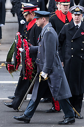 © Licensed to London News Pictures. 12/11/2017. London, UK. The DUKE OF YORK, PRINCE HARRY and PRINCE WILLIAM, DUKE OF CAMBRIDGE attend a <br />  Day Ceremony at the Cenotaph war memorial in London, United Kingdom, on November 13, 2016 . Thousands of people honour the war dead by gathering at the iconic memorial to lay wreaths and observe two minutes silence. Photo credit: Ray Tang/LNP