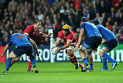 Richard Thorpe of Canada holds on to te ball  - Mandatory byline: Joe Meredith/JMP - 07966386802 - 01/10/2015 - Rugby Union, World Cup - Stadium:MK -Milton Keynes,England - France v Canada - Rugby World Cup 2015