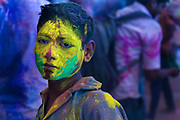 Holi in the town of Barsana, where India's spring festival is at is most boisterous during Lathmar Holi.