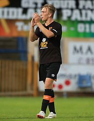 Jarrod Bowen of Hull City applauds the fans - Mandatory by-line: Matt McNulty/JMP - 19/07/2016 - FOOTBALL - One Call Stadium - Mansfield, England - Mansfield Town v Hull City - Pre-season friendly
