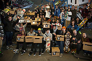 Long Live South Bank event held at the South Bank Undercroft prior to a petition (inside 16 boxes seen here) to save the site, signed by 23,000 people was taken to Lambeth Council. The Undercroft on the South Bank has been popular with skateboarders since the early 70's and is widely acknowledged to be London's most distinctive and popular skateboarding area. The area is used by skateboarders, BMXers, graffiti artists, taggers, photographers, and others. It is proposed that the area be redeveloped for retail spaces.
