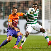 Celtic v Manchester City. Man City's Aleksandar Kolarov (L) and Celtic's Moussa Dembélé (R) in action. (R).  28/09/16