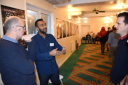 Open Day at the Rose Lane Mosque, Norwich Nov 2017. This communal event allows the wider community to visit and learn about Islam and the way of life of 5% of the UK population.