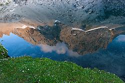 THEMENBILD - Sonnenuntergang am Laserz, Spiegelbild Seekofel im Laserzsee, Lienzer Dolomiten, AUT, EXPA Pictures © 2011, PhotoCredit: EXPA/ M. Gruber
