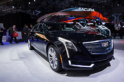 NEW YORK, USA - MARCH 23, 2016: Cadillac CT6 on display during the New York International Auto Show at the Jacob Javits Center.
