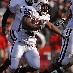 Oct 10, 2009; Piscataway, NJ, USA; Texas Southern running back Martin Gilbert (25) runs the football during first half NCAA college football action between Rutgers and Texas Southern at Rutgers Stadium.