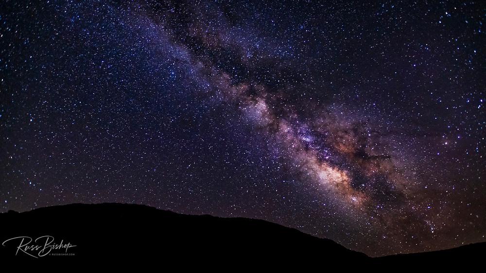 The Milky Way over Santa Rosa Island, Channel Islands National Park, California USA