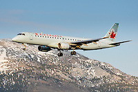 Air Canada Embraer 190 landing in Whitehorse, Yukon